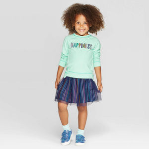 Toddler Girl Terry Sweatshirt & Tulle Skirt Set